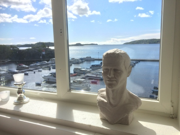 View from the working room at Kragerø art school